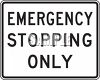American Road Signs-Emergency Stopping Only clipart