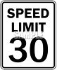 Speed Limit Sign-30 MPH clipart