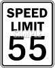 Speed Limit Sign-55 MPH clipart
