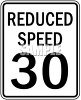 Reduced Speed Sign-30 MPH clipart