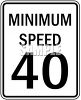 Minimum Speed Sign-40 MPH clipart