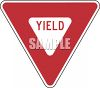 Road Sign-Yield Sign clipart