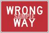 Road Sign-Wrong Way Sign clipart