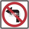 Road Sign-No Left Turn Symbol clipart
