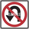 Road Sign-No U-Turn Symbol clipart