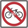 Road Sign-No Bicycles Symbol clipart