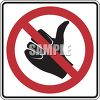 Road Sign-No Hitchhiking Symbol clipart