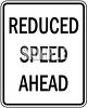 Road Signs-Reduced Speed Ahead clipart