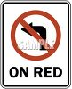 Road Signs-No Left Turn On Red clipart