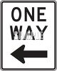 Road Signs-One Way with Arrow Left clipart