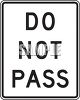 Road Signs-Do Not Pass clipart
