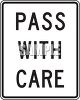 Road Signs-Pass with Care clipart