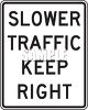 Road Signs-Slower Traffic Keep Right clipart