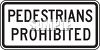 Road Signs-Pedestrians Prohibited clipart