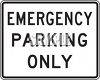 Road Signs-Emergency Parking Only clipart