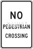 Road Sign-No Pedestrian Crossing clipart