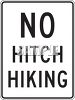 Road Sign-No Hitchhiking clipart