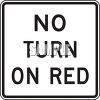 Road Sign-No Turn on Red clipart
