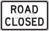 Road Sign-Road Closed clipart