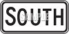 Directional Road Sign-South clipart