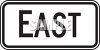 Directional Road Sign-East clipart