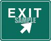 Green and White Road Sign-Exit clipart