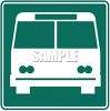 Green and White Road Sign-Busline Symbol clipart