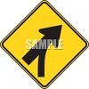 Road Sign-Merge Ahead Symbol clipart