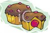 Filled Cupcake with Chocolate Frosting clipart