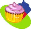 Frosted Cupcake clipart