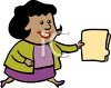 African American Businesswoman Holding a File clipart