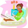 African American Girl in the Hospital with a Broken Leg clipart