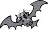 Scary Vampire Bat clipart