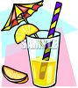 Cocktail with a Lemon Garnish clipart