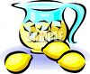 Pitcher of Lemonade with Lemons clipart