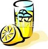 Glass of Lemonade clipart