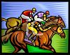 Jockey's Racing Their Horses clipart