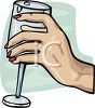 Hand Holding a Wine Glass clipart
