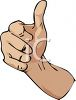 Hand Doing Thumbs Up clipart