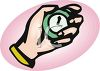 Hand Holding a Stopwatch clipart