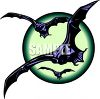 Bats Flying Across the Moon clipart