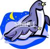 Penguins at Night clipart