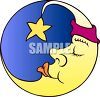 Sleeping Man in the Moon clipart