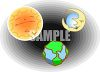 Sun, Moon and Earth clipart