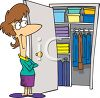 Woman with an Organized Closet clipart