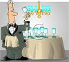 Butler Cleaning Glasses clipart