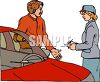 Meter Maid Giving a Man a Ticket clipart