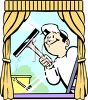 Window Cleaner Using a Squeegie clipart