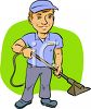 Carpet Cleaning Service Worker clipart
