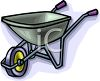 Cartoon Wheelbarrow clipart